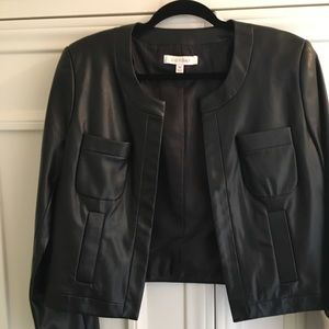 New Ellen Tracy med leather coat